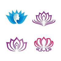images de logo de lotus de beauté vecteur