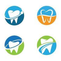 images de logo de soins dentaires vecteur