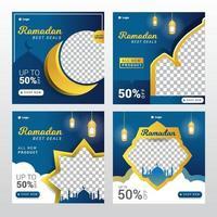 modèle de vente ramadan eid mubarak vecteur