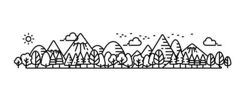 vue panoramique du parc naturel illustrée.