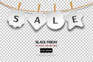 bannière de tag de vente vendredi noir