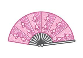 Vecteur de Fan Fan en bois