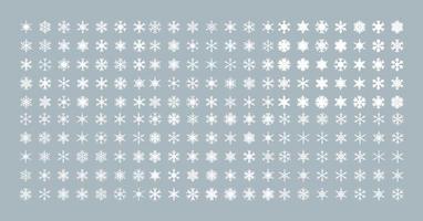 collection de flocons de neige isolés vecteur