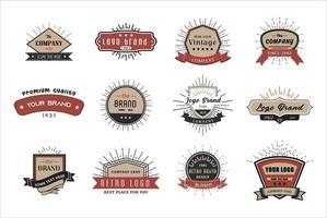 logo rétro vintage pour bannière, affiche, ensemble de flyer vecteur