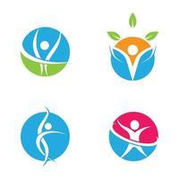 conception d'images de logo de bien-être