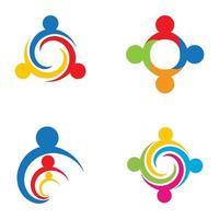 images de logo de travail d'équipe vecteur