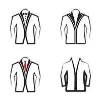 illustration d'images de logo de veste vecteur