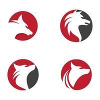 images de logo de loup vecteur