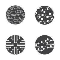 création de logo de circuit vecteur