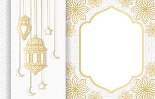lanterne arabe islamique pour le ramadan kareem eid mubarak fond vecteur