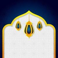lanterne islamique arabe pour le ramadan kareem eid mubarak fond vecteur
