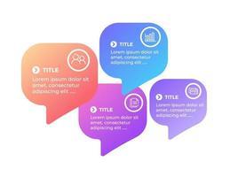 modèle de conception infographique de vecteur avec cinq étapes d'options