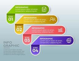 modèle d'infographie de présentation entreprise avec 4 options. illustration vectorielle