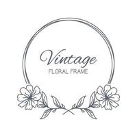 cadres floraux. couronne florale. décoration unique pour carte de voeux, invitation de mariage, faites gagner la date. illustration vectorielle