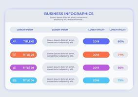 infographie avec options d'étapes