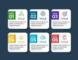 modèle d'infographie de présentation entreprise avec 6 options
