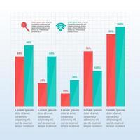 graphique à barres montrant la reprise financière après la crise infographique