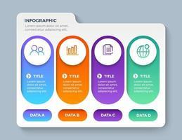 modèle d'infographie de présentation entreprise avec 4 options