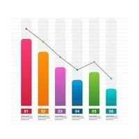 Diagramme à barres décroissant illustrant la pression économique ou les problèmes financiers infographiques