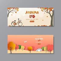 fond de vente automne ou automne avec des scènes de la nature