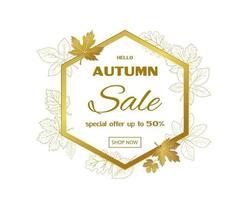 bannière de modèle de vente automne