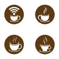 images de logo de tasse de café vecteur