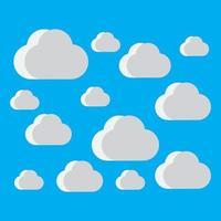 illustration des images de fond de nuage