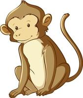 style de dessin animé de singe isolé vecteur