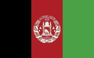 drapeau national afghanistan dans des proportions exactes - illustration vectorielle vecteur