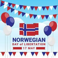Conception patriotique de la fête de l'indépendance de la Norvège vecteur