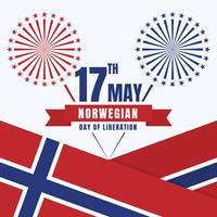 Jour de l'indépendance de la Norvège Design patriotique Couleurs nationales du pays