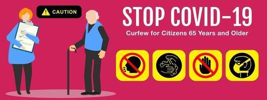 coronavirus covid 19. arrêter le coronavirus. vecteur