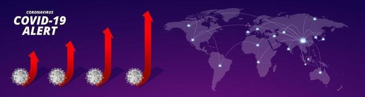 coronavirus covid 19. arrêter la conception de la carte du monde du coronavirus vecteur