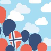 Globes norvégiens dans le ciel