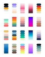nouvelle tendance dégradé. couleurs parfaites pour la conception. vecteur. vecteur
