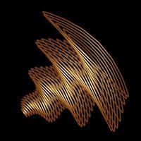 éléments de conception de lignes géométriques. vecteur