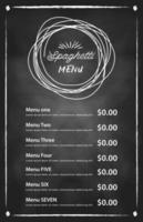spaghettis italiens. conception de menus alimentaires. vecteur