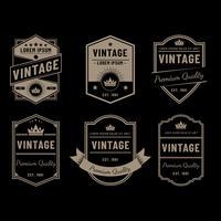Vecteur noir Vintage étiquettes