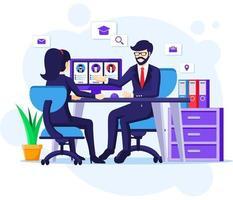 concept d'embauche et de recrutement vecteur