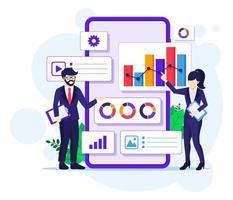 concept d & # 39; analyse de données commerciales