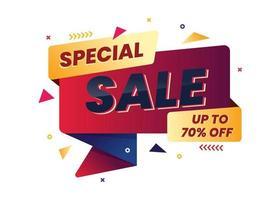 modèle de bannière de promotion de vente offre spéciale vecteur