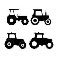 ensemble de tracteurs vecteur