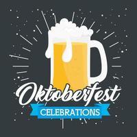 bannière de célébration oktoberfest avec bière