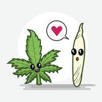 caricature de vecteur d'éléments de cannabis médical