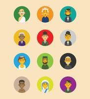 jeu d'icônes de la figure du monde vecteur