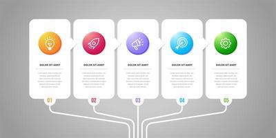 éléments de conception infographique de vecteur. numéro d'option conception infographique de flux de travail