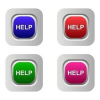 bouton d & # 39; aide sur fond blanc