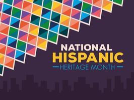 bannière du mois national du patrimoine hispanique vecteur