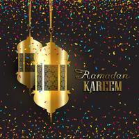Fond de Ramadan avec des confettis vecteur