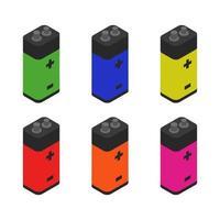 jeu de batterie isométrique vecteur